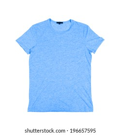 blue t shirt on a white background