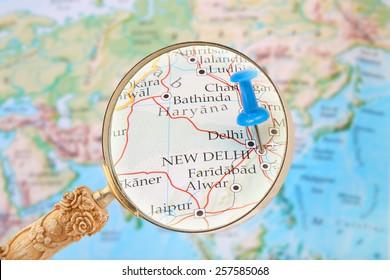New Delhi Map Images Stock Photos Vectors Shutterstock