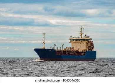 Blue tanker. Toxic substances and petroleum products transfer
