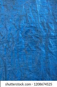 Blue tarp texture background