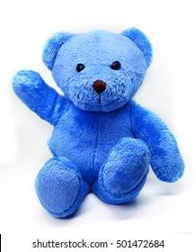 Blue teddy bear images stock photos vectors shutterstock blue teddy bear against a white background altavistaventures Images