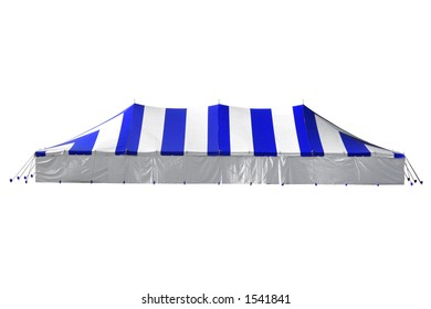 Blue Tent over white with clipping path