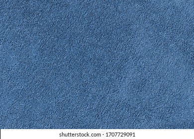 Blue terry towel close up. Abstract fabric textile texture background. - Shutterstock ID 1707729091