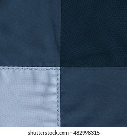 blue textile background of three different tints