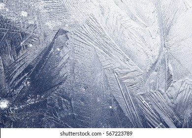 blue texture of cracked ice scratches