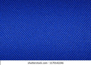 Blue texture of synthetic fabric. Textile background.