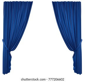 Blue Open Stage Curtain Stock Illustrations Images Vectors Rh Shutterstock Com Theatre Curtains Clipart Black And White Theater