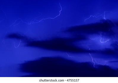 blue thunderstorm background