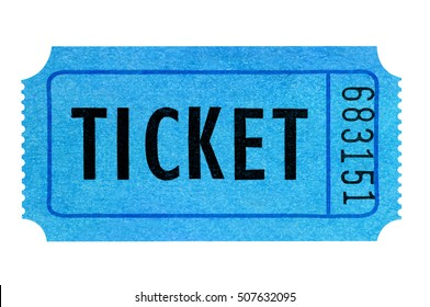 5fdd6f2e5b Blue ticket isolated