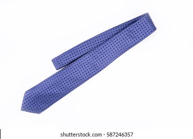blue tie on a white background. Isolated / blue tie on a white background. Isolated / Nadale