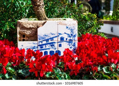 Blue tiles in Benalmadena Spain