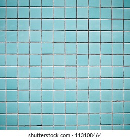 Blue tiles on a wall as a background image