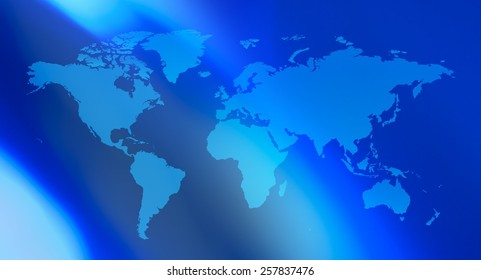 Blue title world map background