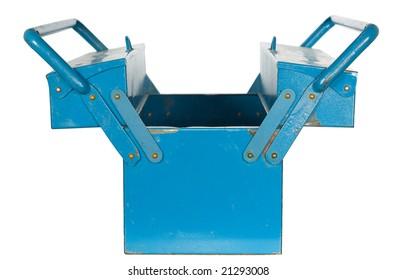 blue tool box isolated on white background