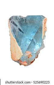 Blue topaz crystal from Minas Gerais, Brazil.