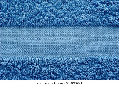 blue towel as a background for your message