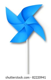 Blue toy windmill