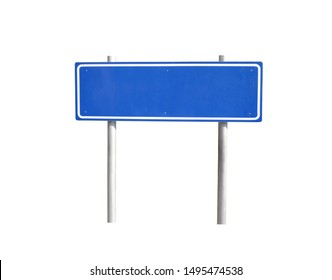 Blue traffic sign isolated on white background and have clipping paths.