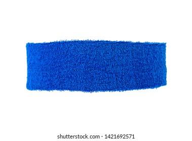 Blue training headband isolated on a white background