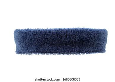 Blue training headband isolated on white