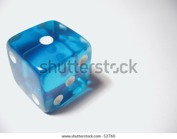 Blue translucent die