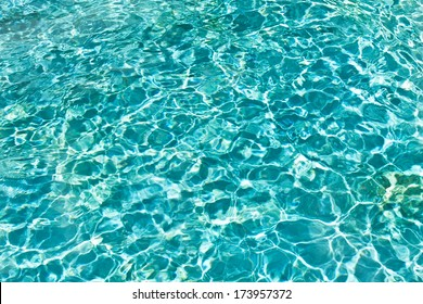 Blue and transparent sea water texture pattern