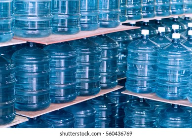 blue transparent waters gallon, Overlapping background