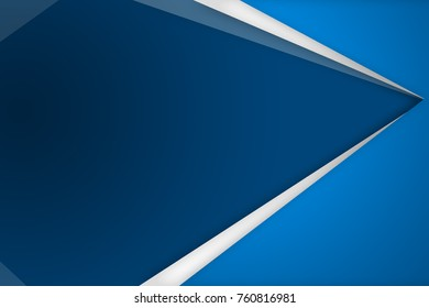 Blue and with triangle background with overlap paper layer gradient color with space for text and message artwork design