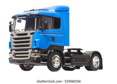 blue truck isolated on white background