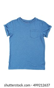 Blue t-shirt isolated on a white