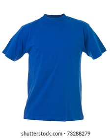 Blue T-shirt isolated on white background