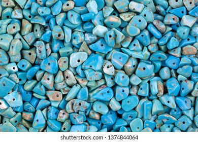 Blue turquoise Chip Stone beads with hole to make jewelry craft
