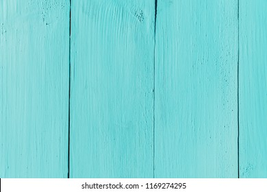 Blue Turquoise Wood Board Painted Background