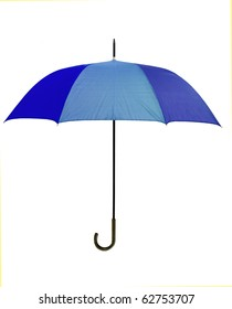 Blue umbrella - isolated