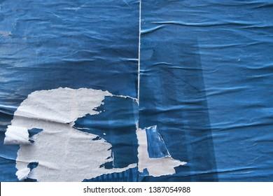 blue urban torn street poster grunge texture background