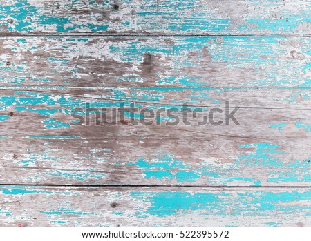 Blue Vintage Wood Texture Background