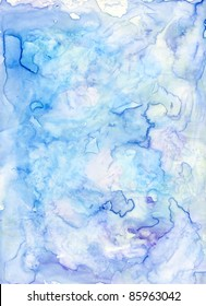 Blue and Violet abstract watercolor background