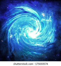 Blue Vortex  - Elements of this Image Furnished by NASA