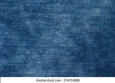Blue washed denim jeans fabric texture, textile background