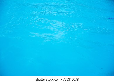 Blue water background.