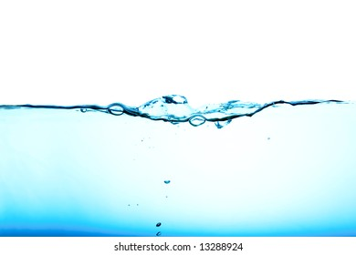 Blue water background abstract isolated on white