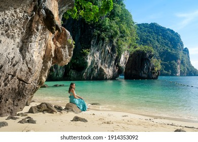 blue water beach at Lao Lading island, andaman sea, travel destination in Krabi Province, Thailand