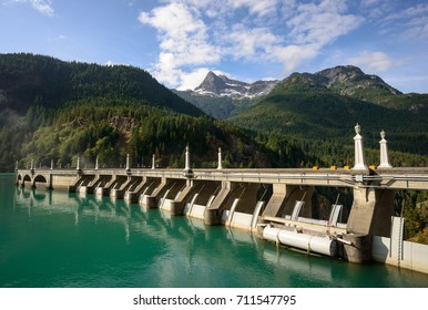 Blue Water by the Dam, North Cascades National Park