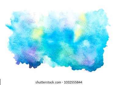 blue water color  background.