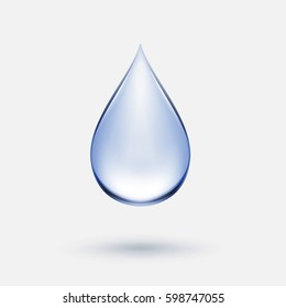 Blue Water Drop Icon Isolated on Background