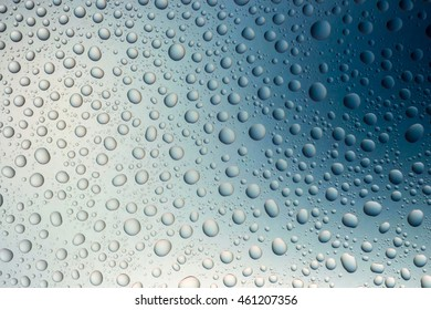 Blue water drops abstract gradient background