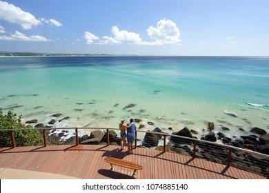 Blue water of the Gold Coast, Coolangatta, Queensland, Australia.