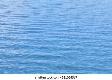 In the blue water lake
