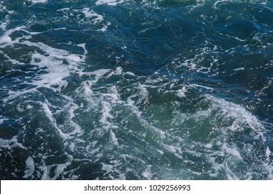 blue water in the ocean surf