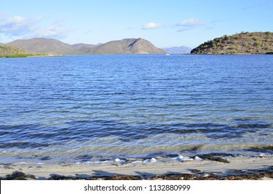 blue water of Sea of Cortez, Mulege, Baja, Mexico